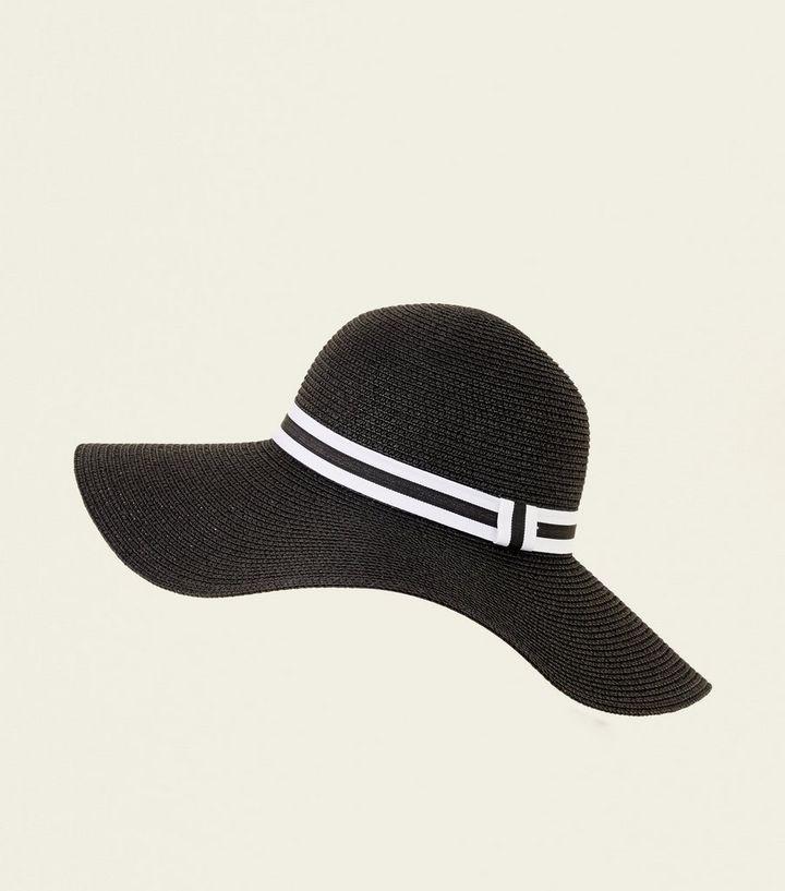 513457a98dd7e White Stripe Band Floppy Hat
