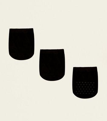 3 Pack Black Cotton Blend Mule Socks New Look