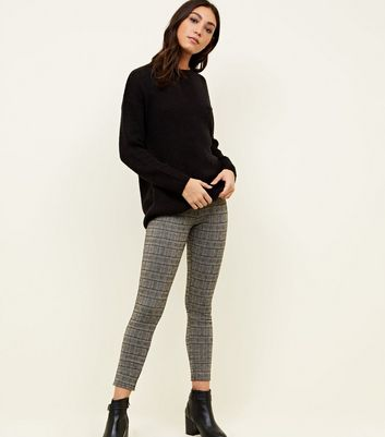 Grey Glitter Check Leggings