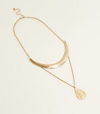 Gold Torque and Pendant Necklace