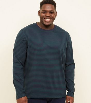 Plus Size Dark Green Stripe T-Shirt