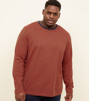 Plus Size Orange Stripe T-Shirt