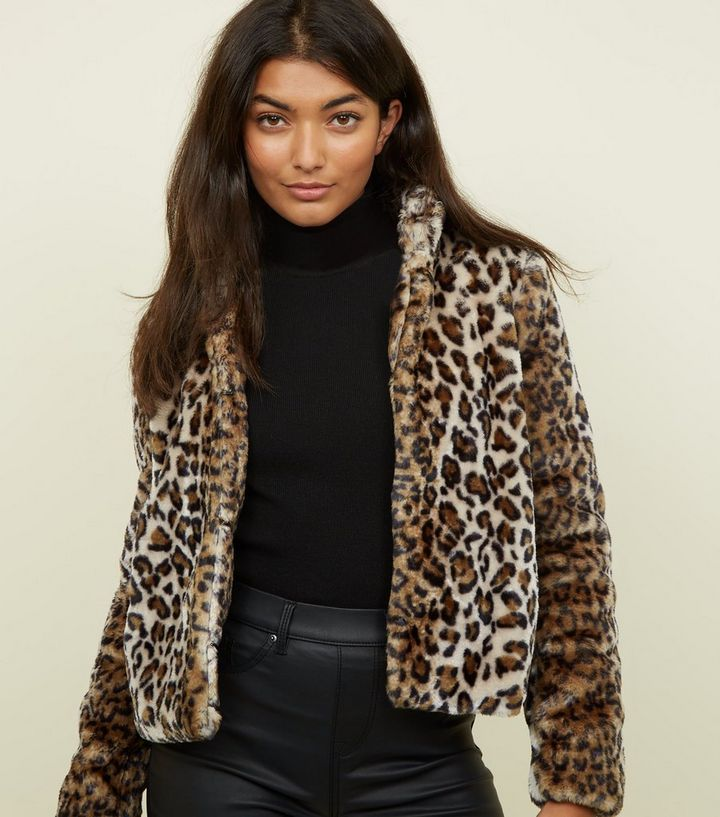 cf520625f JDY Brown Leopard Print Faux Fur Coat Add to Saved Items Remove from Saved  Items