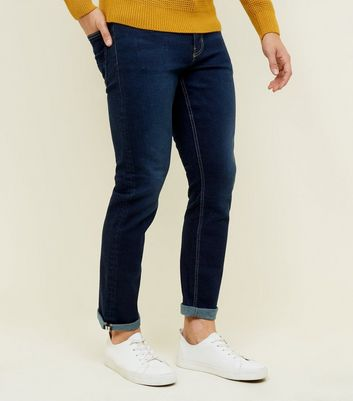 Bright Blue Crop Slim Jeans