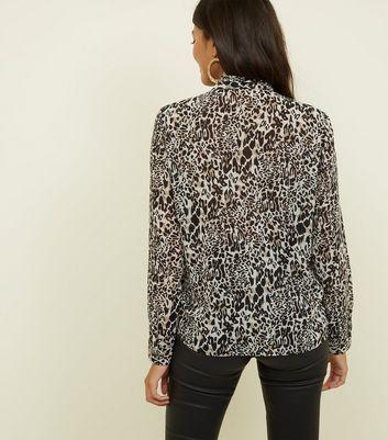JDY Brown Leopard Print Chiffon Shirt New Look