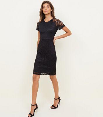 Mela Black Lace Bodycon Dress New Look