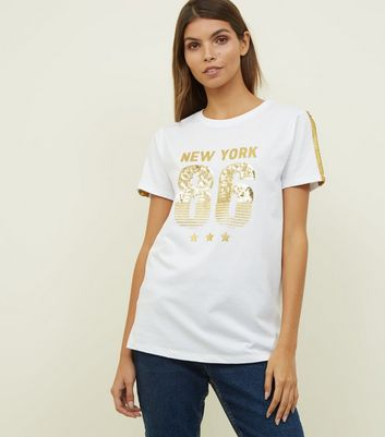 White New York 86 Sequin T-Shirt