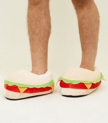 Pale Yellow 3D Padded Burger Slippers