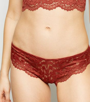 Orange Lace Brazilian Briefs