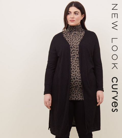 5653bee4b5 Curves Black Midi Cardigan · Curves Black Midi Cardigan ...