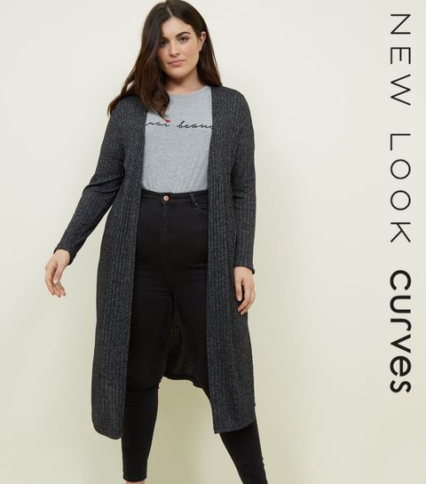 Curves Black Midi Cardigan · Curves Black Midi Cardigan ... f6f253fad