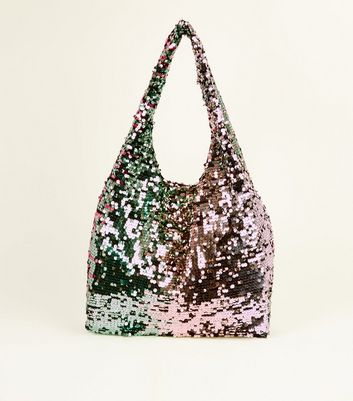 Multicoloured Sequin Shopper Bag