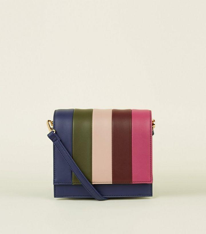 5ed3aae728 Multicoloured Rainbow Stripe Box Bag