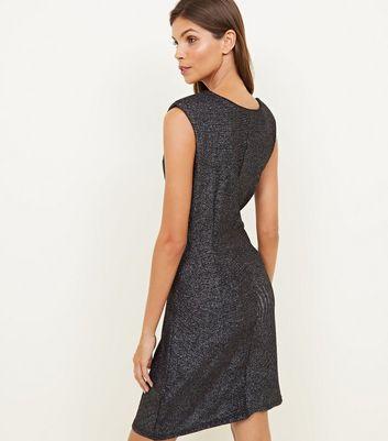 Mela Black Glitter Sleeveless Dress New Look