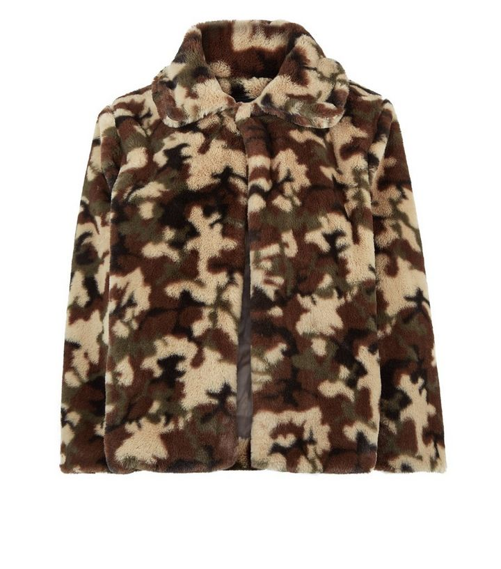 0e9dc8685bd8f ... Mela Green Camo Faux Fur Jacket. ×. ×. ×. Shop the look
