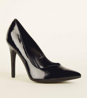 Black Triangle Opening Stiletto Heels