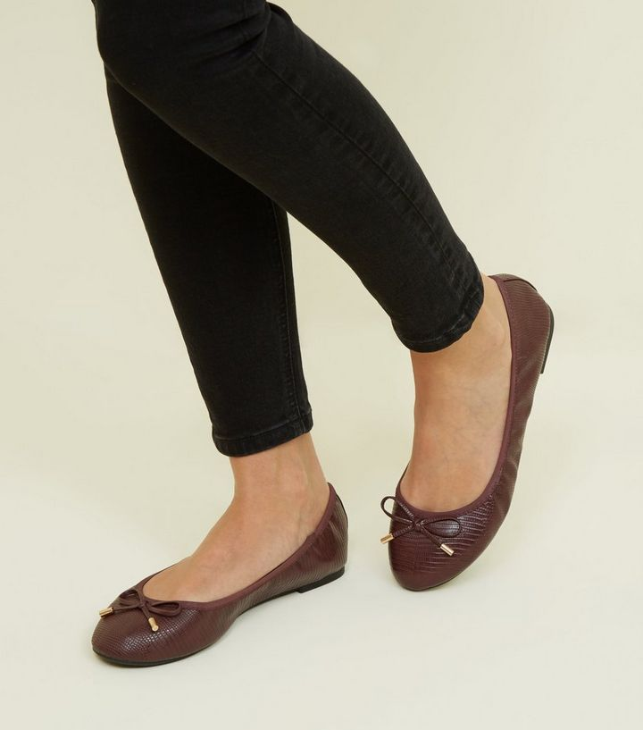 d0d4068b95 ... Wide Fit Dark Red Faux Snakeskin Elasticated Pumps. ×. ×. ×. Shop the  look