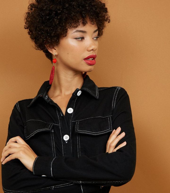 1f2df6344c7 ... Black Contrast Stitch Utility Boiler Jumpsuit. ×. ×. ×. Shop the look