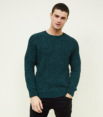 Teal Chenille Knit Jumper