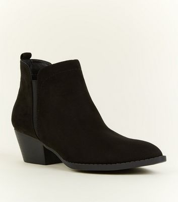 Black Western Pointed Chelsea Boots