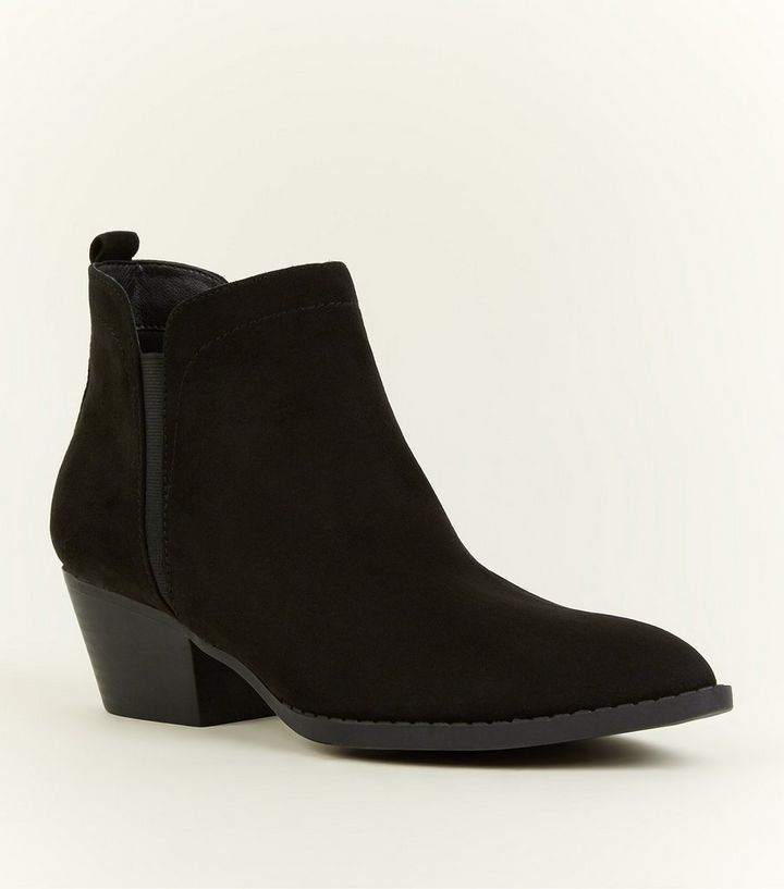 6100e59c2a8 Black Pointed Western Chelsea Boots