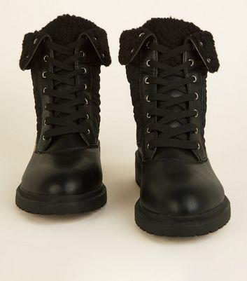 Stiefel Mit Wide Später Entfernen Artikeln Von schwarzeGesteppte Fit � Schnürung Für Speichern Gespeicherten 8nvm0wOyNP