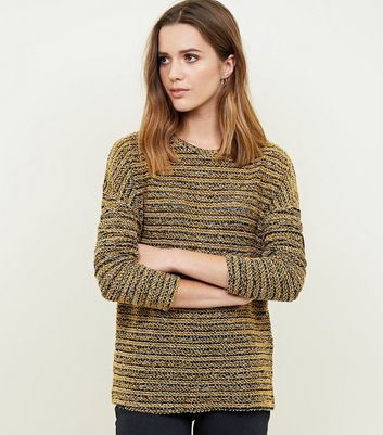 Yellow Bouclé Fine Knit Top