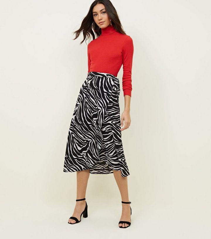 d7b4455a13 Black Zebra Print Midi Skirt | New Look