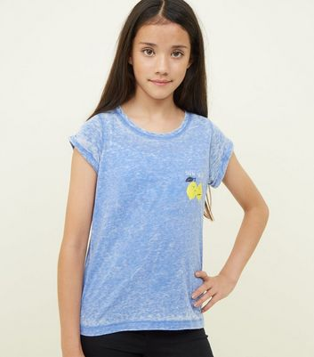 Girls Blue You're The Zest Slogan T-Shirt