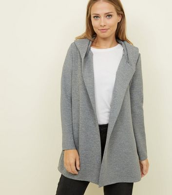 Mela Grey Hooded Jersey Jacket
