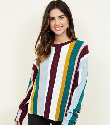 Multicoloured Vertical Stripe Jumper