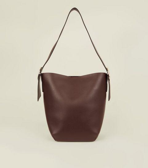 dd6e948c5855 ... Dark Brown Buckle Strap Hobo Bag ...