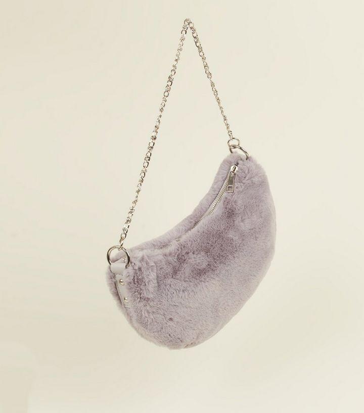 0609cde620 ... Grey Faux Fur Chain Diamanté Bag. ×. ×. ×. Shop the look