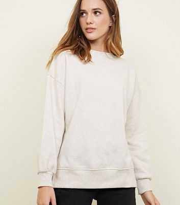 Stone Brushed Slouchy Sweatshirt