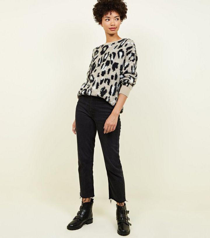 2532fb5114e0bb ... Brown Fluffy Leopard Print Jumper. ×. ×. ×. Shop the look