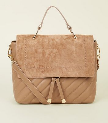 Camel Quilted Satchel
