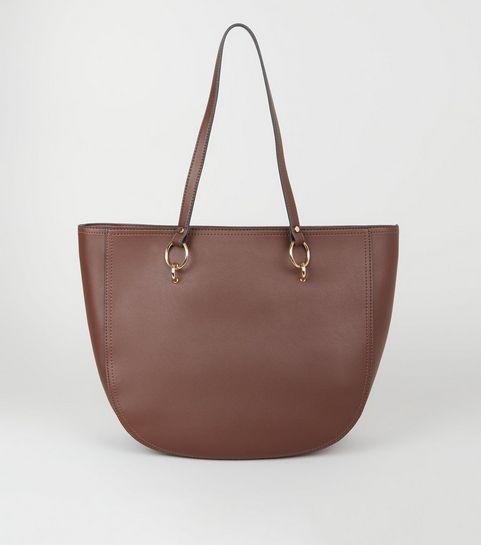 ... Dark Brown Ring Strap Tote Bag ... 815b735d498d6