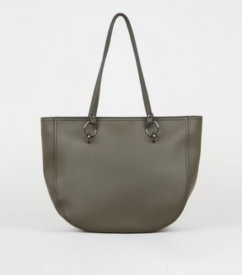 Khaki Ring Strap Tote Bag