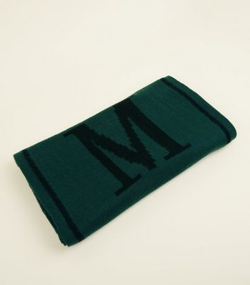 Green Amour Slogan Scarf