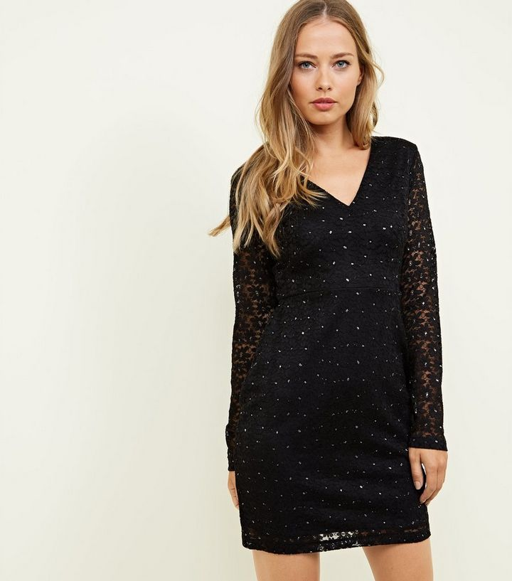 Mela Lace Glitter Bodycon Dress Add To Saved Items Remove From Saved Items