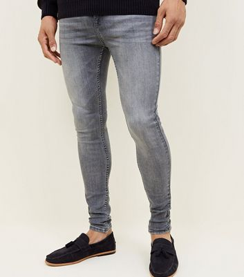 Dark Grey Skinny Spray On Jeans