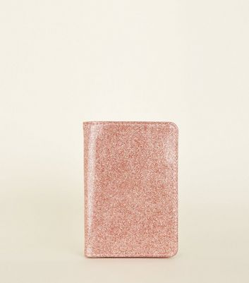 Rose Gold Glitter Passport Holder