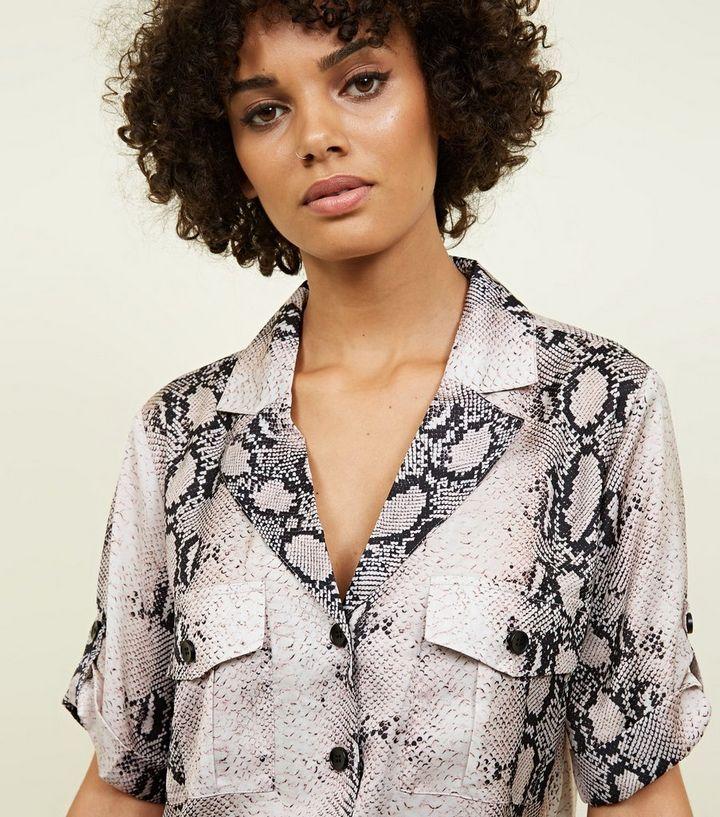 203fe994 ... Pink Snake Print Pocket Front Shirt. ×. ×. ×. Shop the look