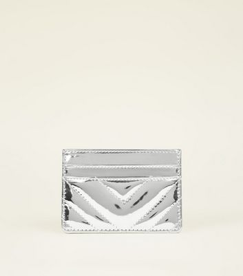 Silver Quilted Card Holder