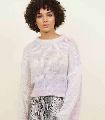 Pink Pastel Space Dye Jumper