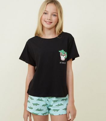 Girls Black Hot Crocolate Pyjama Set