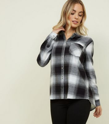 Petite Black Check Cotton Shirt
