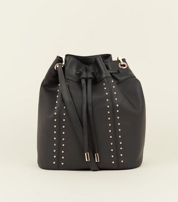Black Studded Duffle Bag