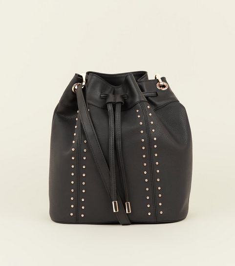 Black Studded Duffle Bag