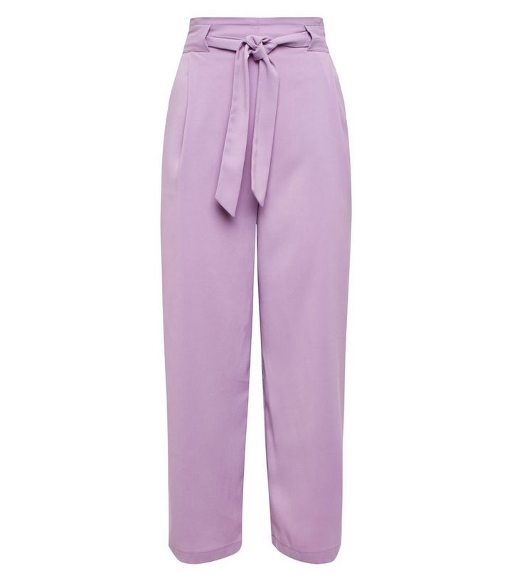comfortable feel enjoy clearance price 2019 wholesale price Lilac Tie Waist Cropped Trousers Add to Saved Items Remove from Saved Items